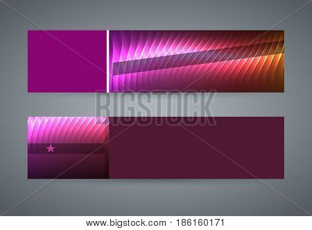 Horizontal Web Banner Background Blue Purple Neon Effect12