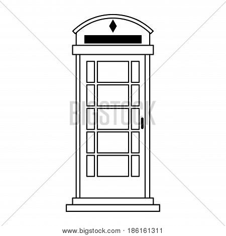 london phone booth icon image vector illustration design