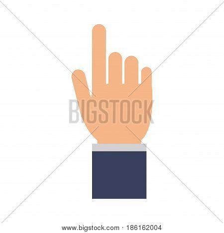 index finger pointing hand gesture icon image vector illustration design