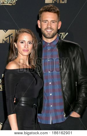 LOS ANGELES - MAY 7:  Vanessa Grimaldi, Nick Viall at the MTV Movie and Television Awards on the Shrine Auditorium on May 7, 2017 in Los Angeles, CA