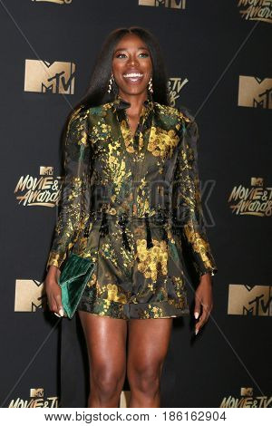 LOS ANGELES - MAY 7:  Yvonne Orji at the MTV Movie and Television Awards on the Shrine Auditorium on May 7, 2017 in Los Angeles, CA
