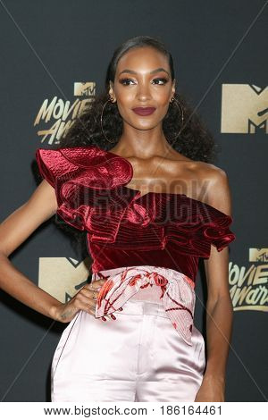 LOS ANGELES - MAY 7:  Jourdan Dunn at the MTV Movie and Television Awards on the Shrine Auditorium on May 7, 2017 in Los Angeles, CA