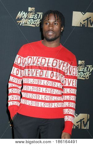 LOS ANGELES - MAY 7:  Shameik Moore at the MTV Movie and Television Awards on the Shrine Auditorium on May 7, 2017 in Los Angeles, CA