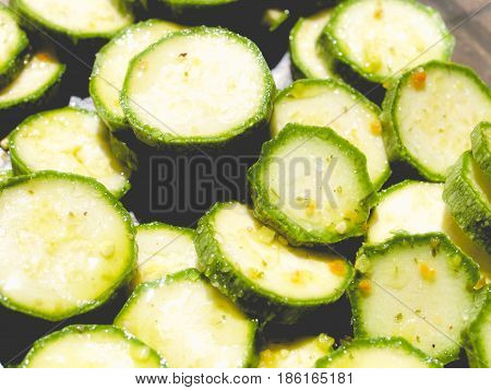 Courgettes Zucchini, Faded Vintage Look