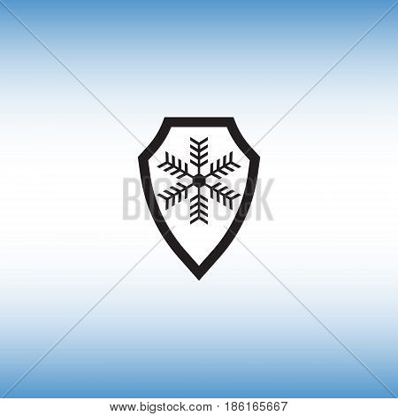 Frost proof flat vector icon. Isolated frost-proof vector sign. Frost resistance vector illustration.