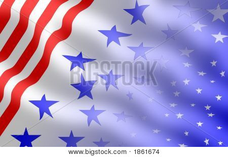 Red White And Blue Folds - A Patriotic Backdrop