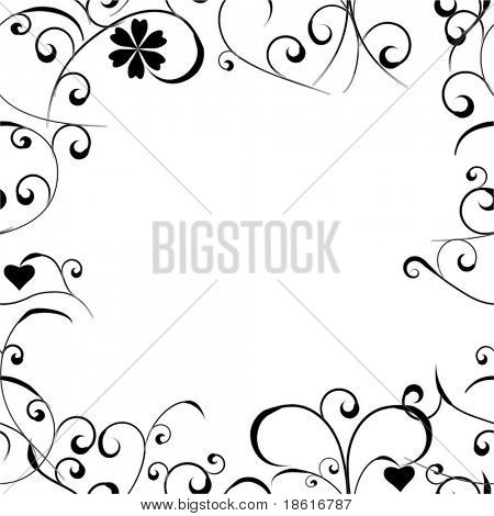 Seamless floral abstract frame