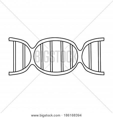 dna strand icon image vector illustration design  single black line
