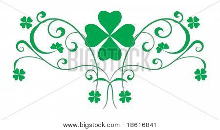 St. Patrick's day design element isolated on white