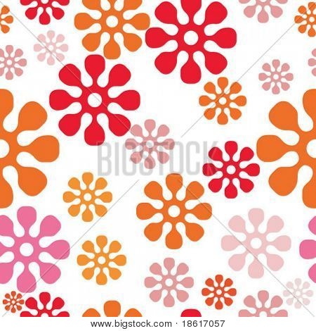 Seamless spring funny background