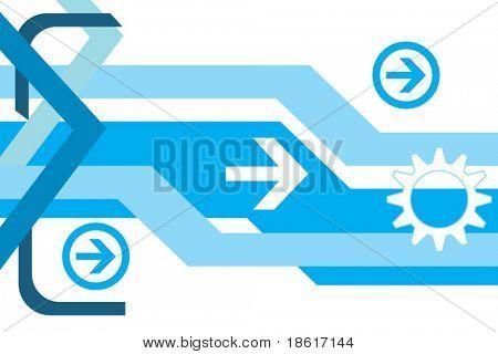 Hi-tech abstract vector background