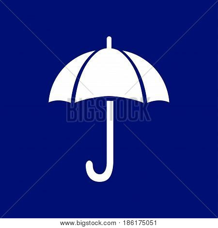 Umbrella sign icon. Rain protection symbol. Flat design style.