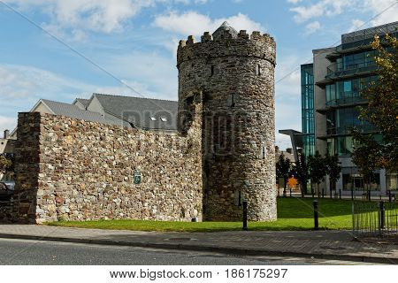 Watch tower is a part of medieval Waterford fortifications.Ireland