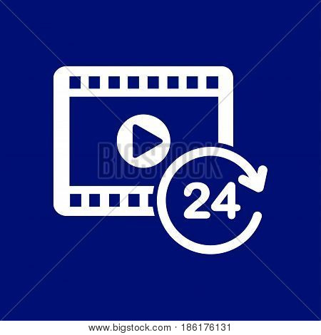 Streaming video symbol. Movie premiere. Live video Calendar.