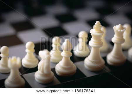 Chess game seen from one side, Useful for background