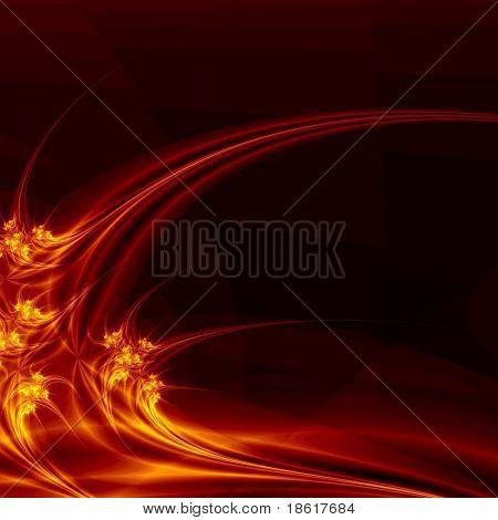Hot fantasy plasma on dark background