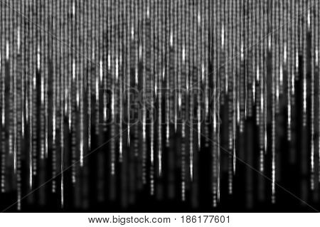 white matrix background computer generated with motion blur