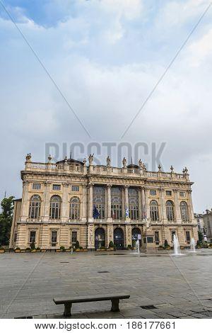 Royal Palace (palazzo Madama) In Turin, Italy