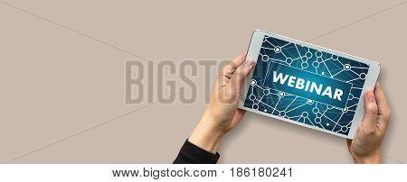 Webinar Man Hand On Table Business, Coffee, Split Tone