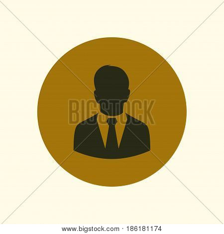 User icon of man in business suit. Flat design style.