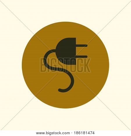 Vector electrical plug symbol. Web flat icon.