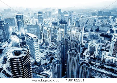 Aerial view of the big city landscape China Nanchang