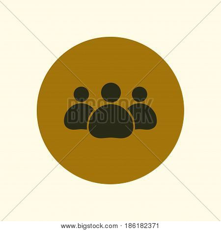 Team work  icon. Office workers and business team.
