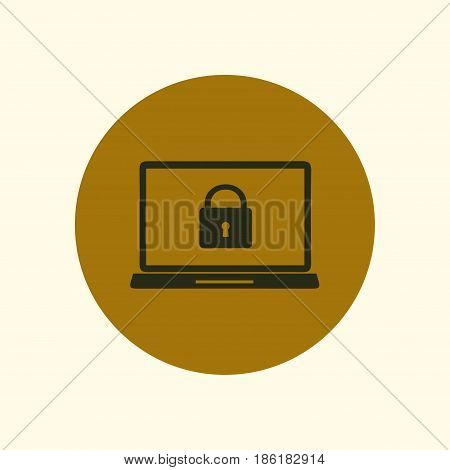 Internet security concept  icon. Identification and protection symbol.