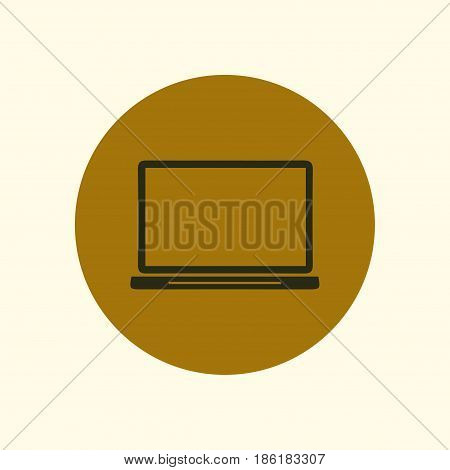 laptop icon. Flat design style. Laptop as a business tool.