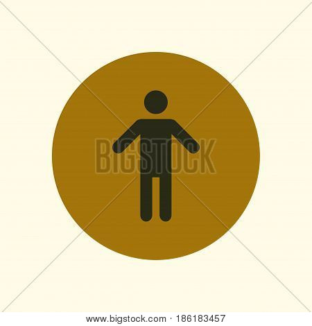 Human male sign icon. Male toilet. Flat style. A gender symbol is a pictogram used to represent either biological sex.