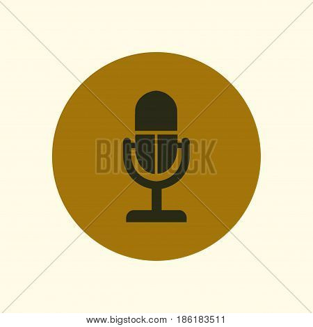 Speaker icon. Live music sign. Flat design style.