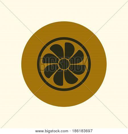 Exhaust fan icon. Ventilator symbol. Flat design style.