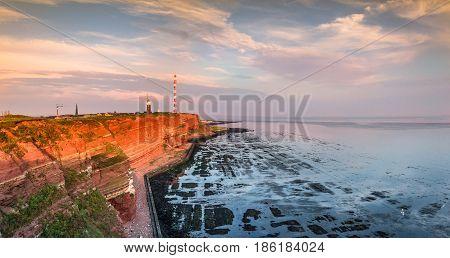 Beautiful Sunset At Island Helgoland, Germany