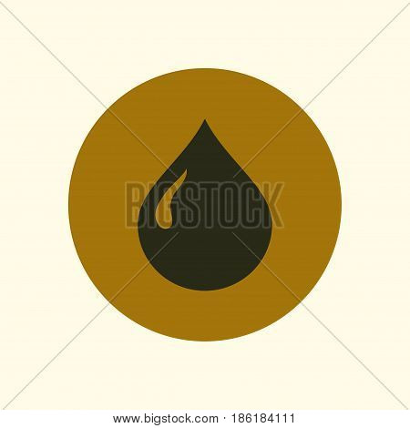 Oil character. Petroleum icon. Blood donation. Flat style.