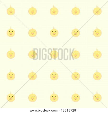 cutie baby chickens with yellow background. tile background. vector. illustration. basic Red Green Blue. graphic design.