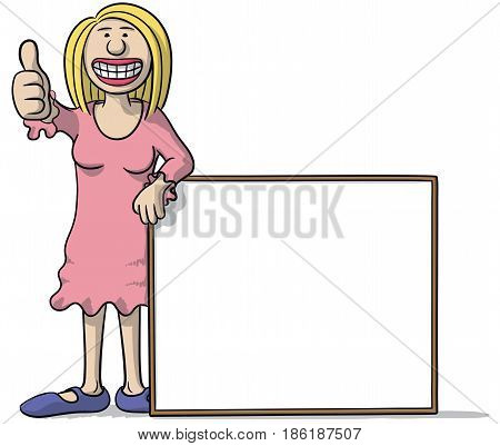 Woman With A Signboard