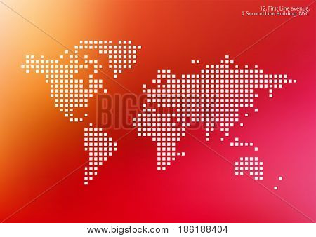 Vector world map squares vector photo bigstock vector world map with squares rectangles for business templates brochures and layouts website gumiabroncs Image collections