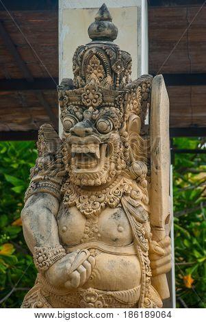 Garuda Wisnu Kencana Cultural Park, Small Statue Of A Balinese Spirit Stone. Bali. Indonesia.