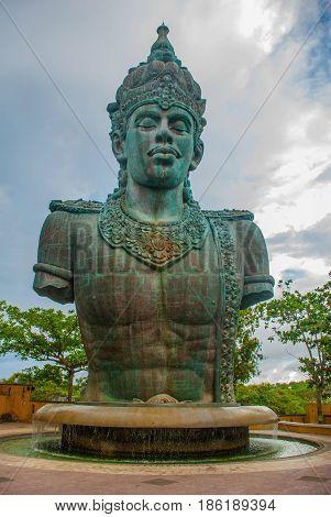Garuda Wisnu Kencana Cultural Park, Huge Sculpture Of Vishnu Statue. Bali. Indonesia.