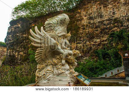 Garuda Wisnu Kencana Cultural Park. Beautiful Sculpture. Bali. Indonesia.