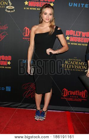 LOS ANGELES - APR 26:  Hunter King at the NATAS Daytime Emmy Nominees Reception at the Hollywood Museum on April 26, 2017 in Los Angeles, CA