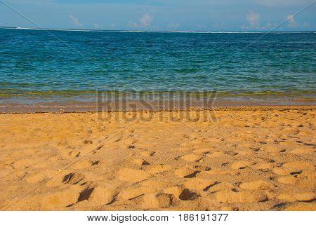 Beach In Nusa Dua Bali. Geger Beach. Indonesia.