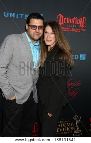 LOS ANGELES - APR 26:  Gregori J. Martin, Wendy Riche at the NATAS Daytime Emmy Nominees Reception at the Hollywood Museum on April 26, 2017 in Los Angeles, CA