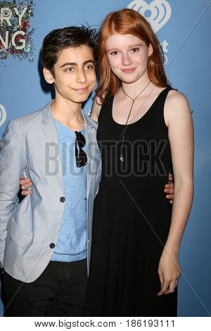 LOS ANGELES - MAY 6:  Aidan Gallagher, Hannah McCloud at the