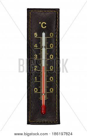 Brown celsius thermometer isolated on white background