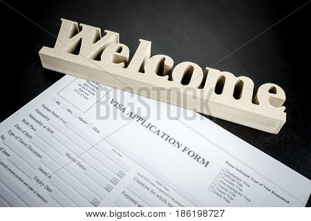 Welcome to easy Visa application form paper document