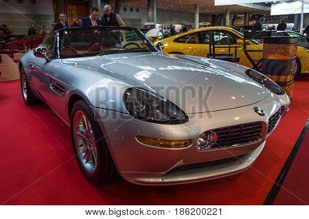 STUTTGART GERMANY - MARCH 02 2017: Sports car BMW Z8 2001. Europe's greatest classic car exhibition