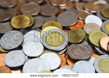 coins of thailand background thailand baht coins