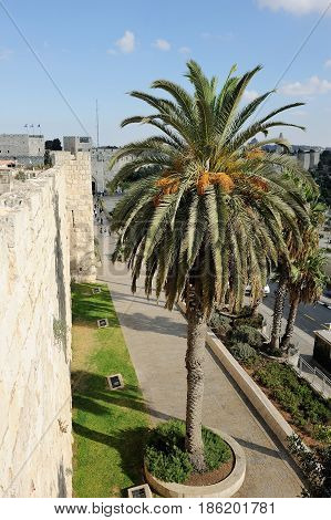 Ancient and young Jerusalem capital of Israel in the Middle East