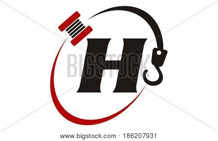 This image describe about Crane Hook Towing Letter H